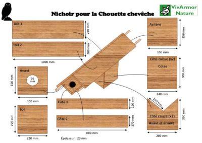Visuel plan nichoir chouette chevêche