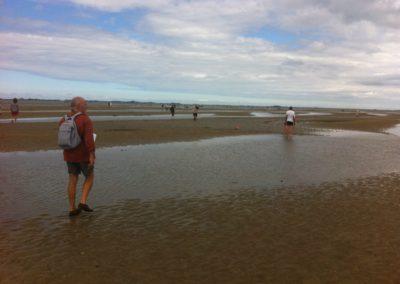 Enquêteur bénévole rejoignant les pêcheurs aux Bancs Roux, au large des Godelins