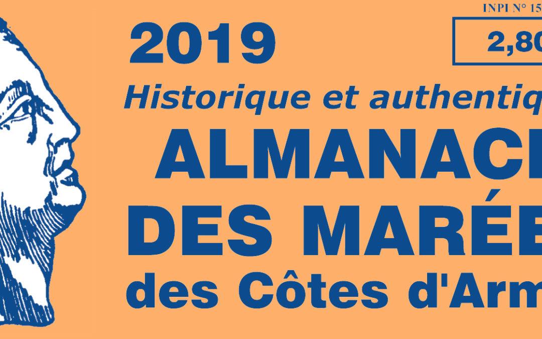 L'almanach des marées des Côtes d'Armor 2019 vient de paraître