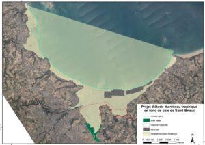 Zone d'étude du projet ResTroph Baie de Saint-Brieuc