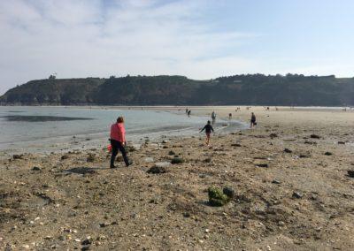 Retour de marée à Martin-Plage