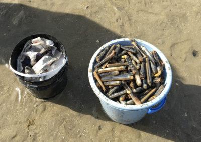 Panier de couteaux dépassant le quota autorisé de 60 prises max par pêcheur