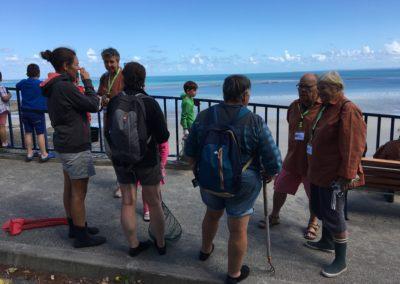 Sensibilisation des pêcheurs à l'entrée du site des Godelins