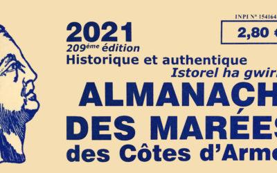 L'almanach des Marées des Côtes d'Armor 2021 vient de paraître