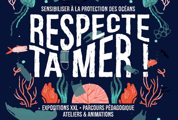 """Stand en lien avec l'exposition """"Respecte ta mer !"""""""