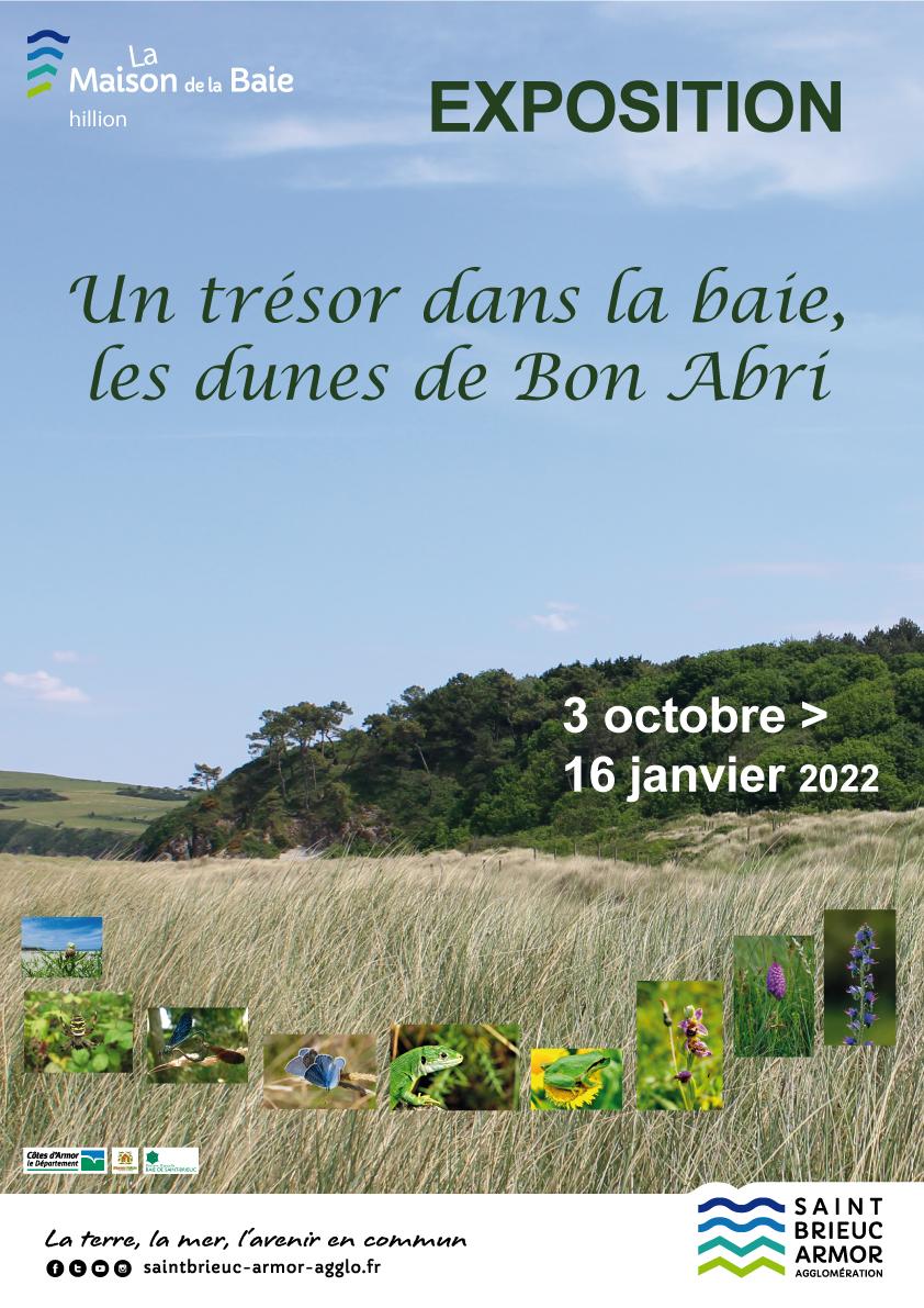 """Expo extérieure de la Maison de la Baie : """"Un trésor dans la baie, les dunes de Bon Abri"""""""